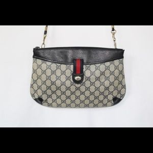 Authentic Gucci Crossbody Clutch Navy